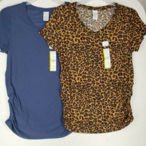 Time and Tru Womens Maternity Top Large Lot of  2